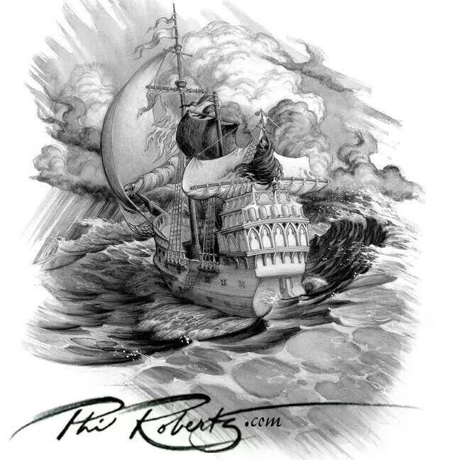 Drawn pirate linux Google pirate skull Pirate/Ship