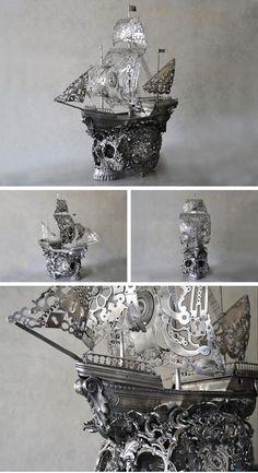 Drawn pirate linux #Surreal sculpture Tendencies skull