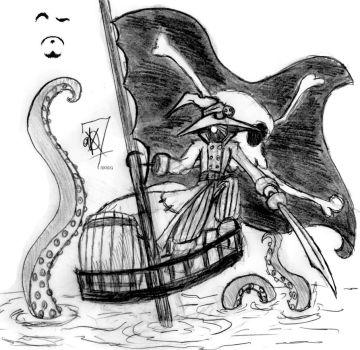 Drawn pirate mage DeviantArt Scorpius007 Sinking krakenrum 0