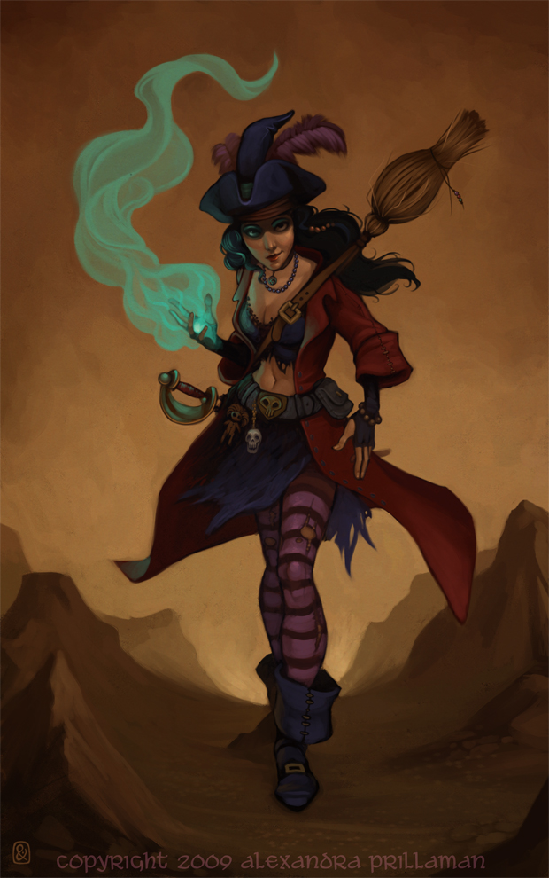 Drawn pirate mage 3 Witch Pirate Another Page