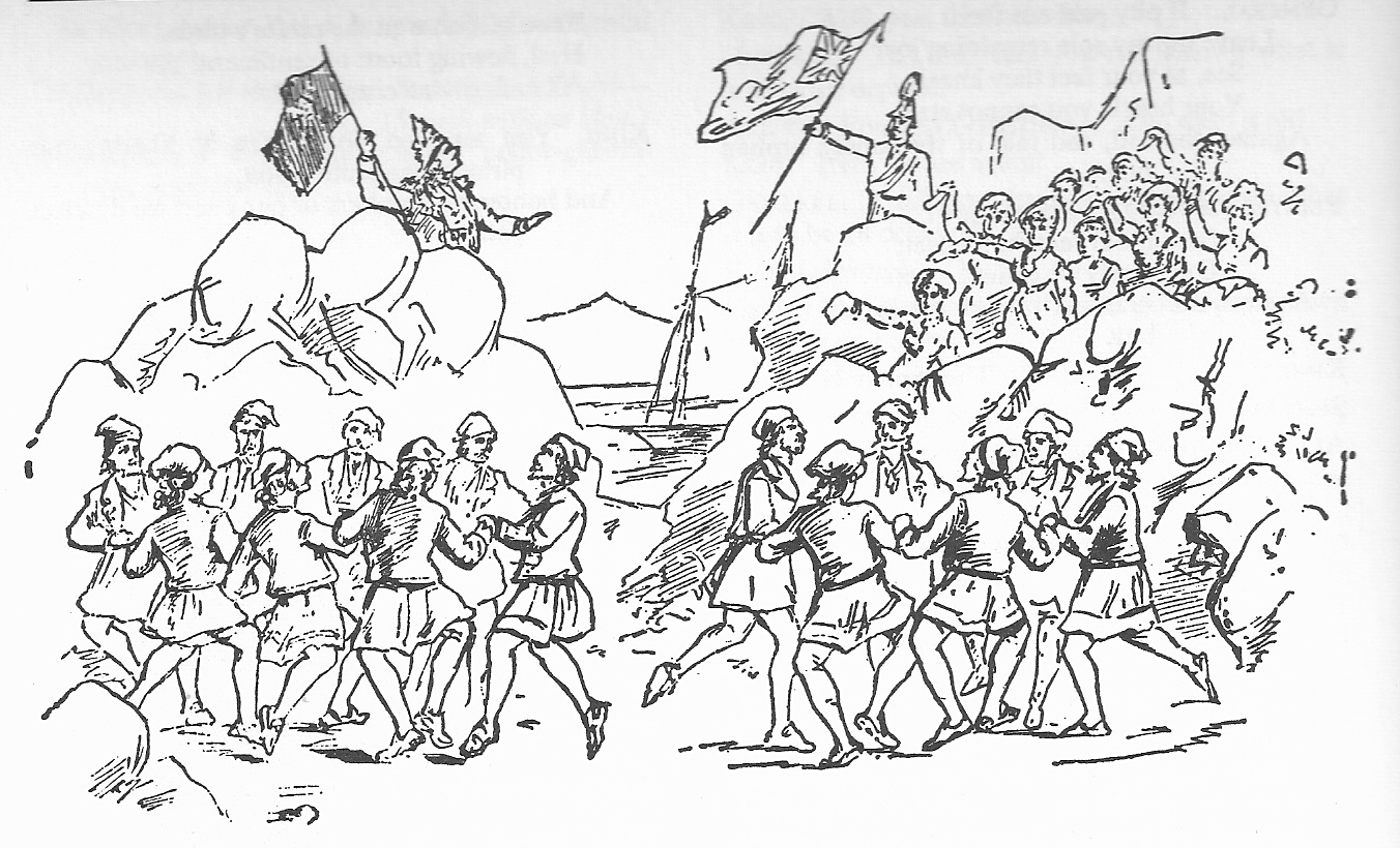 Drawn pirate penzance G&S (2014) Society production Pirates