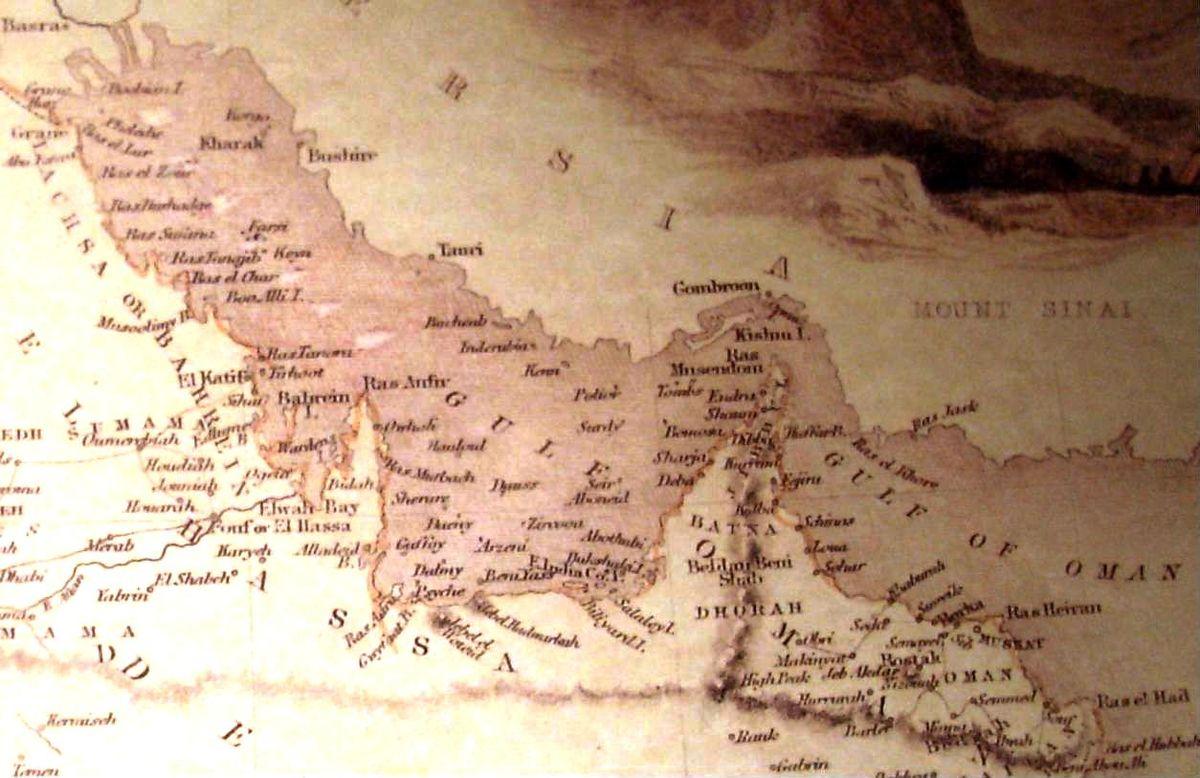 Drawn pirate persian  Wikipedia of 1809 Gulf