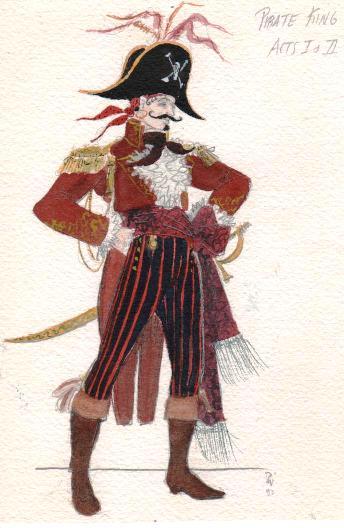 Drawn pirate pirate king L Penzance The King Costume