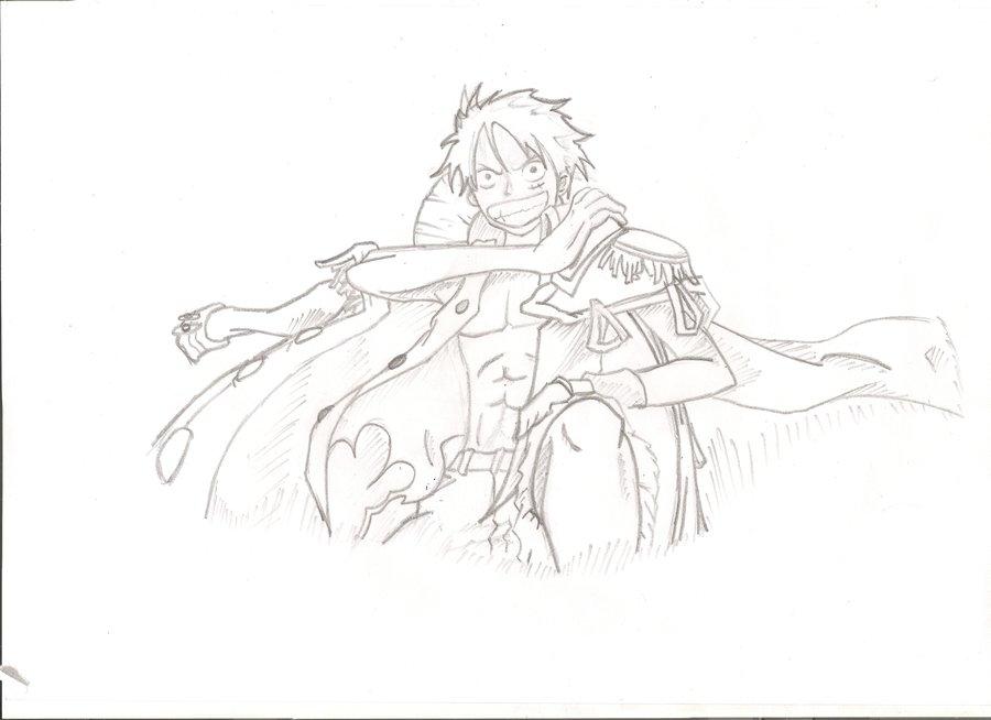 Drawn pirate pirate king By Luffy crazekilla99 by on