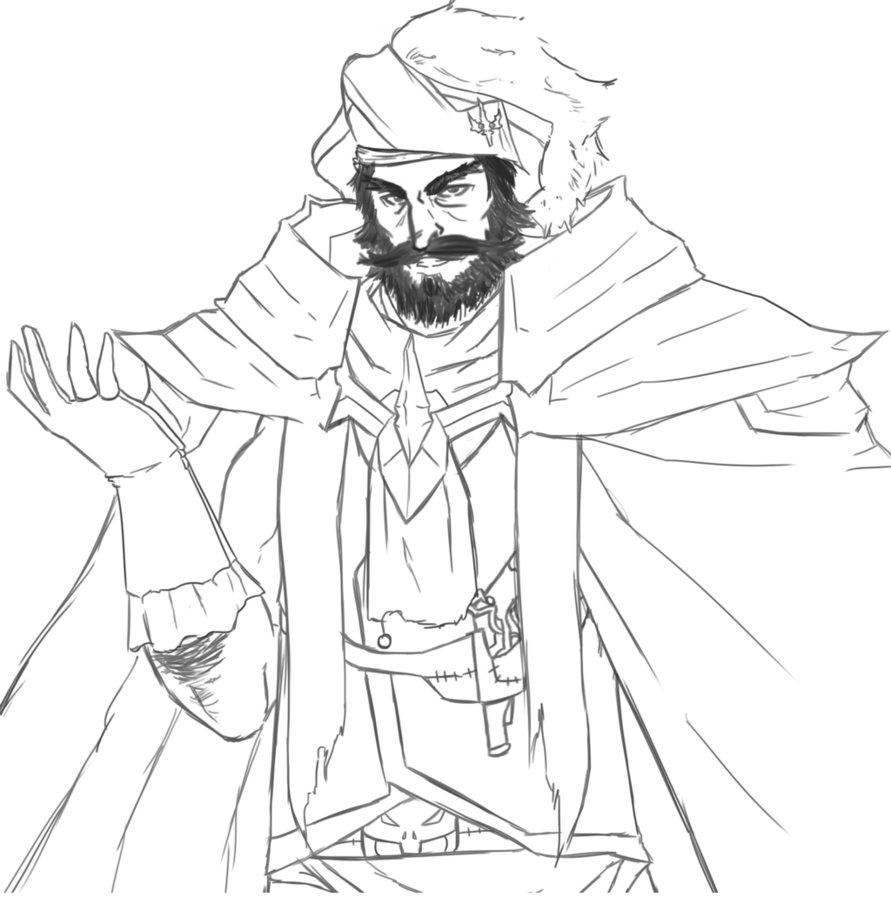 Drawn pirate pirate king San Gangplank San Yama DeviantArt