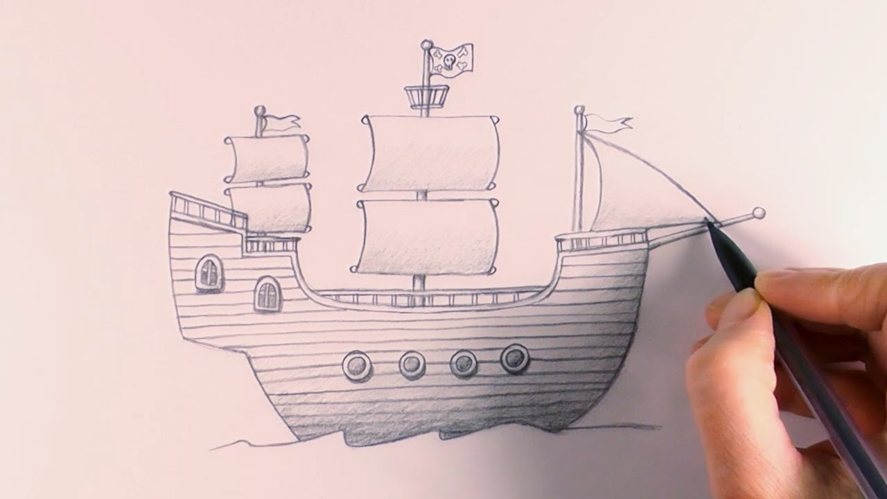 Drawn pirate pirate ship Draw to How How Pirate