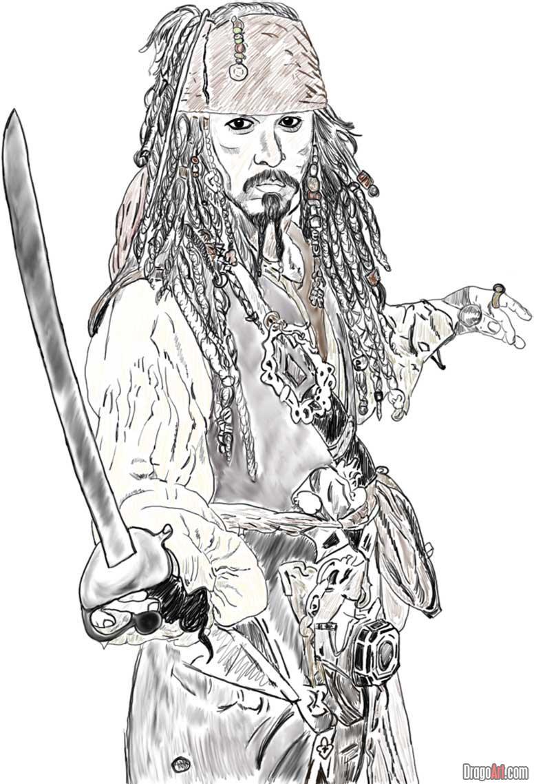 Drawn pirate pirate ship Draw johnny how draw jack