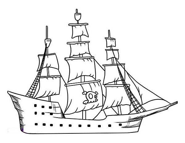Drawn pirate pirate ship Drawing Drawing Ship Galleon Rear