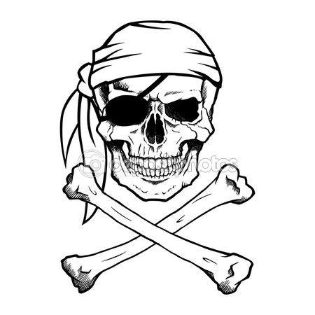 Drawn caricature pirate Skull Pirate on #68275549 pirate