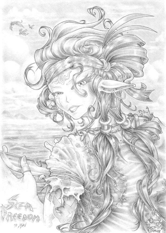 Drawn pirate pirate woman Pirate maumanga Pirate on by