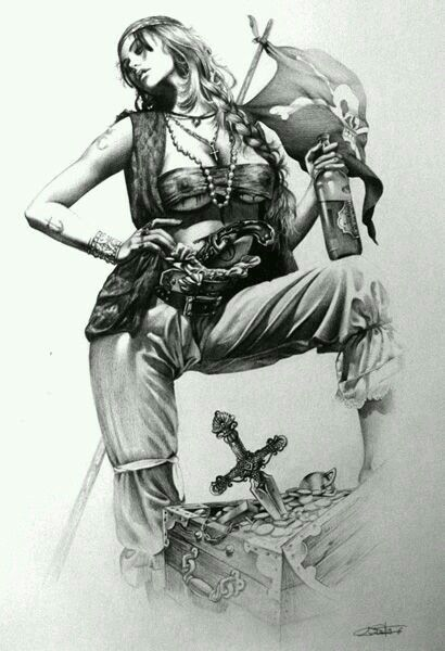 Drawn pirate pirate woman Lady on images Pinterest Pirates