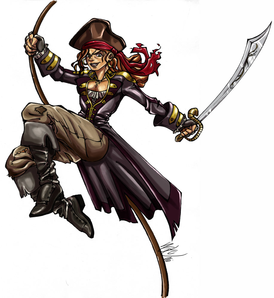 Drawn pirate pirate woman By Pirate pirateneko Pirate pirateneko