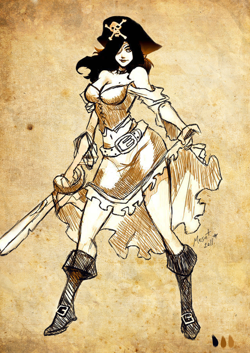 Drawn pirate pirate woman Pirate Pirate girl girl Girl