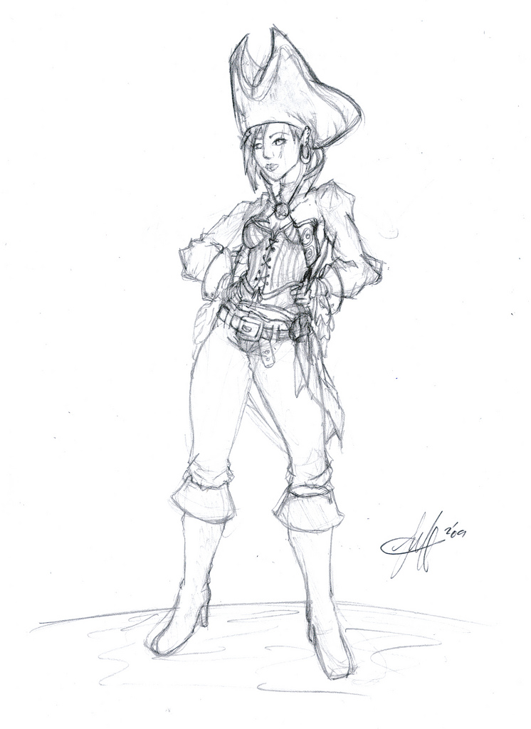 Drawn pirate pirate woman Pirate BooBop Pirate on by