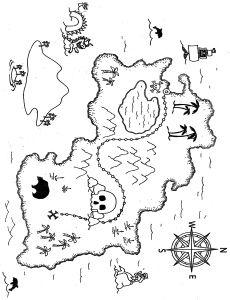 Drawn pirate printable Treasure maps Printable Treasure for