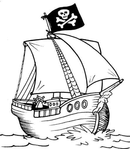 Drawn pirate printable Activities Preschool Boat A Page