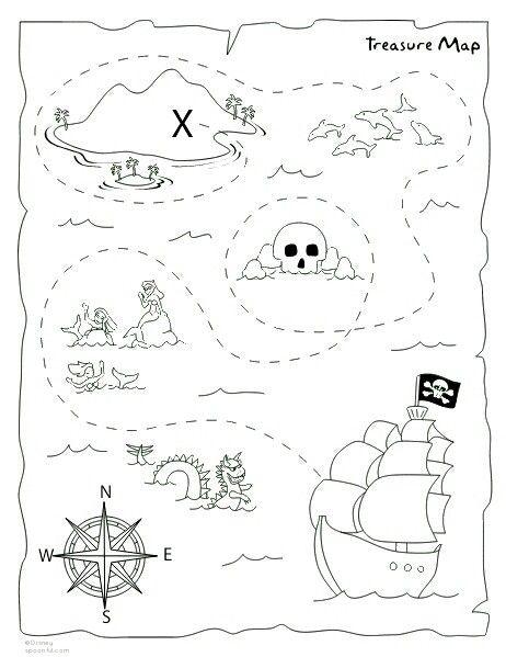 Drawn pirate printable DIY treasure maps Pinterest printable