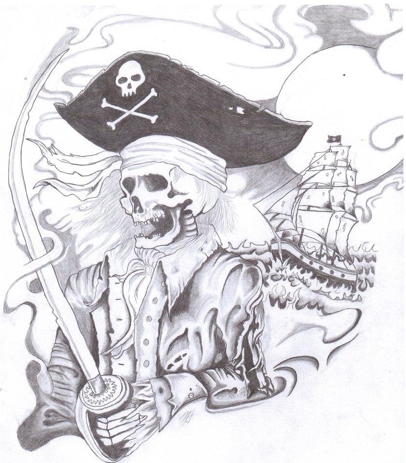 Drawn sleleton skeleton pirate Drawing Pencil Art Drawing Pirate