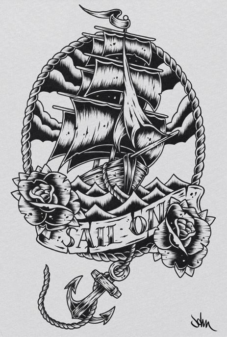 Drawn viking pirate Tattoo Designs Tattoos  tattoo