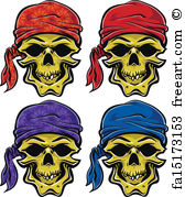 Drawn pirate scallywag Prints Print Wall Art Skull