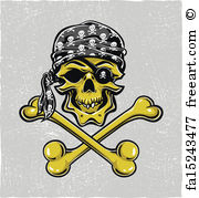 Drawn pirate scallywag Pirate Prints Drawn Wall Art