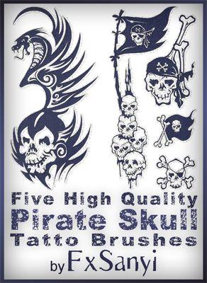 Drawn pirate sick Ideas Pirate best Brushes skull