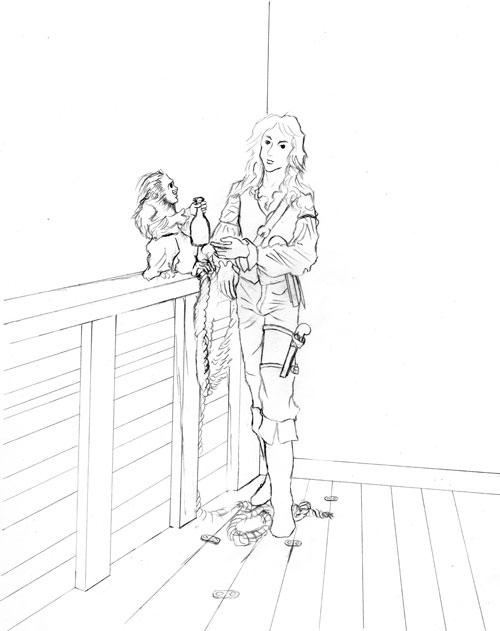 Drawn pirate sick Drawing sick I back to