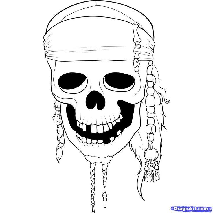 Drawn pirate simple #7
