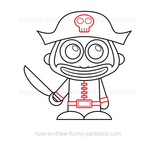 Drawn pirate simple #3