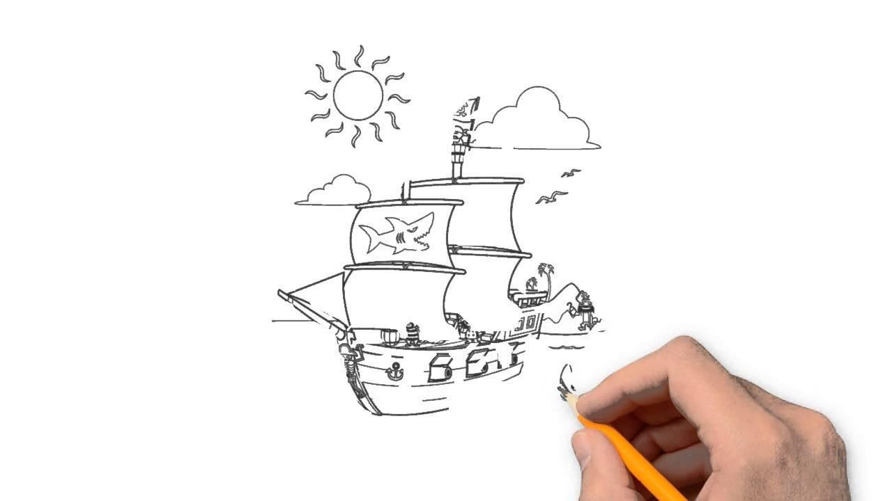 Drawn pirate simple #6