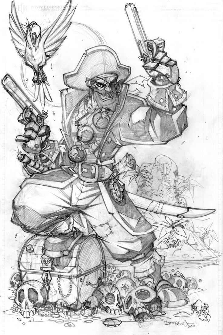 Drawn caricature pirate Of what Pirate is Masters
