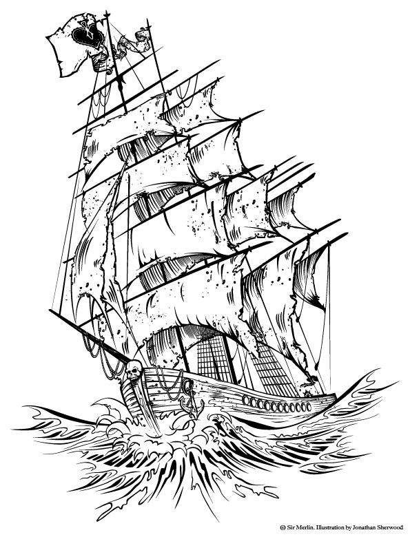 Drawn viking pirate Designs ideas Pinterest sketch tattoos