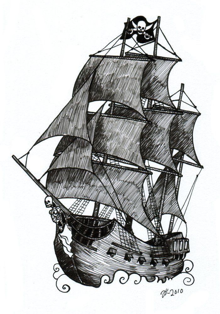 Drawn ship pirate shipwreck Ship Tattoo ship Search