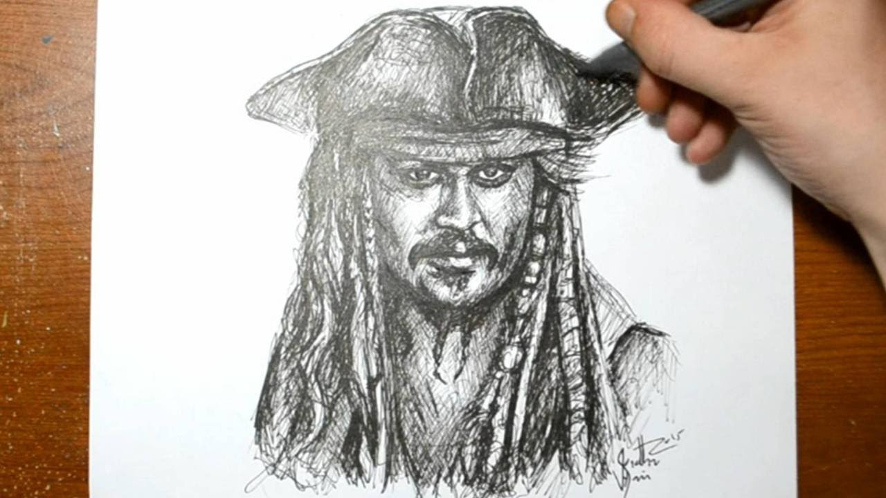 Drawn pirate sketch  sketch Jack Jack in