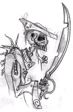 Drawn pirate undead Sword a with BunnyBennett sword