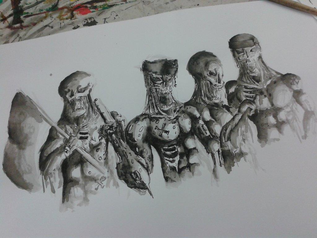 Drawn pirate undead DeviantArt by BestBeyonceEUW Pirates//Drawing BestBeyonceEUW