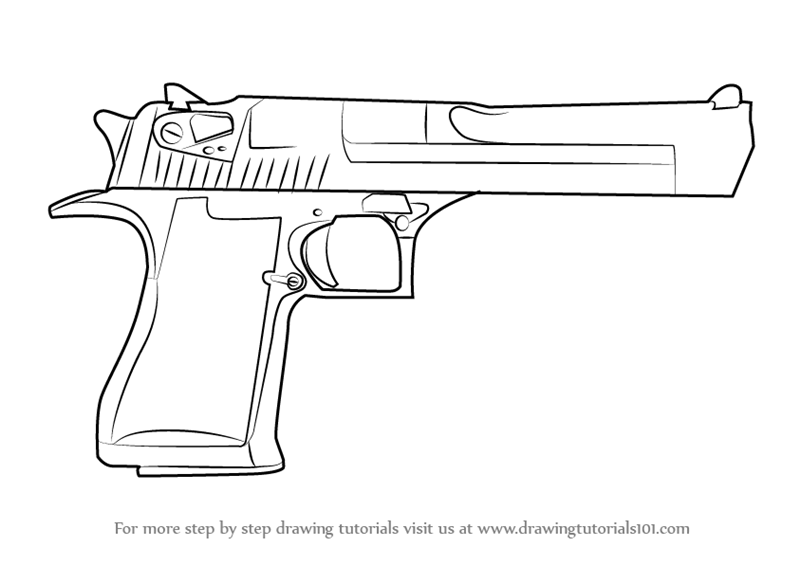 Drawn weapon pistol Learn Eagle Step : (Pistols)