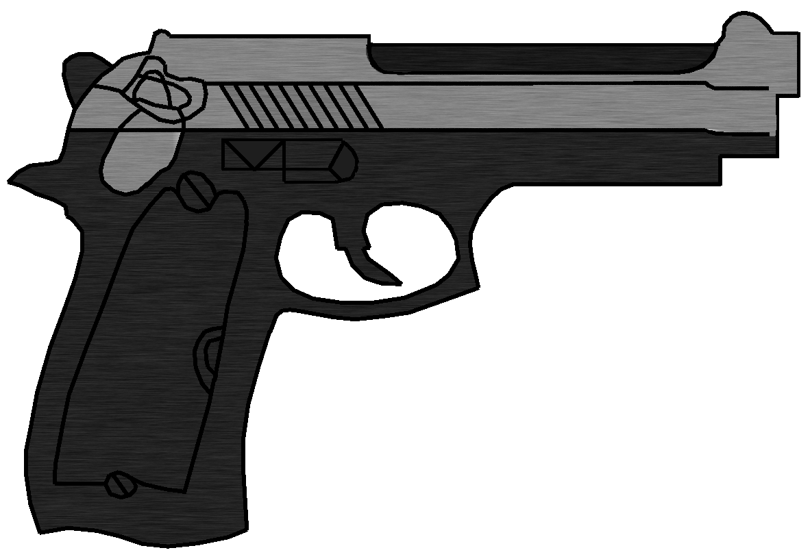 Drawn pistol gun bullet Drawn original) Drawn Standard Standard
