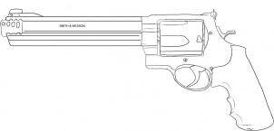 Drawn pistol 44 magnum To Drawing Printout: how harrys