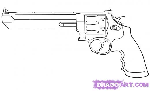 Drawn pistol 44 magnum Learn How 2010 Step by