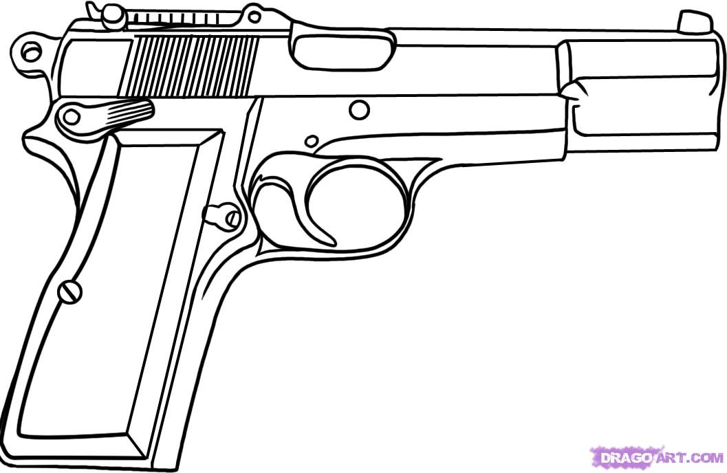 Drawn snipers hand gun Drawing Drawing Easy Pistol Pistol