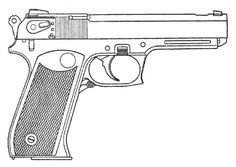 Drawn pistol gun bullet Draw Pistol