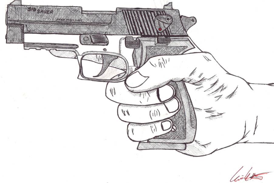 Drawn shotgun 9mm pistol Of search Pictures Guns Guns