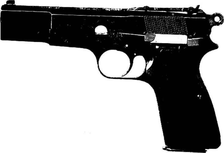 Drawn pistol 9mm Browning Partes Automatic 9mm Pistol