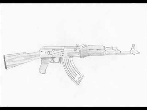 Drawn pistol ak47 Pinterest 47 draw an 47