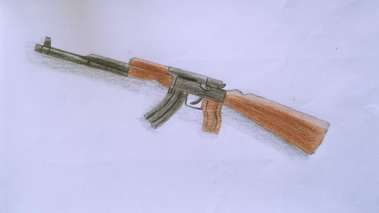 Drawn pistol ak47 Speed Draw AK47 Drawing How