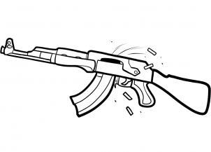 Drawn pistol ak47 Bullet 6 an Draw rifle