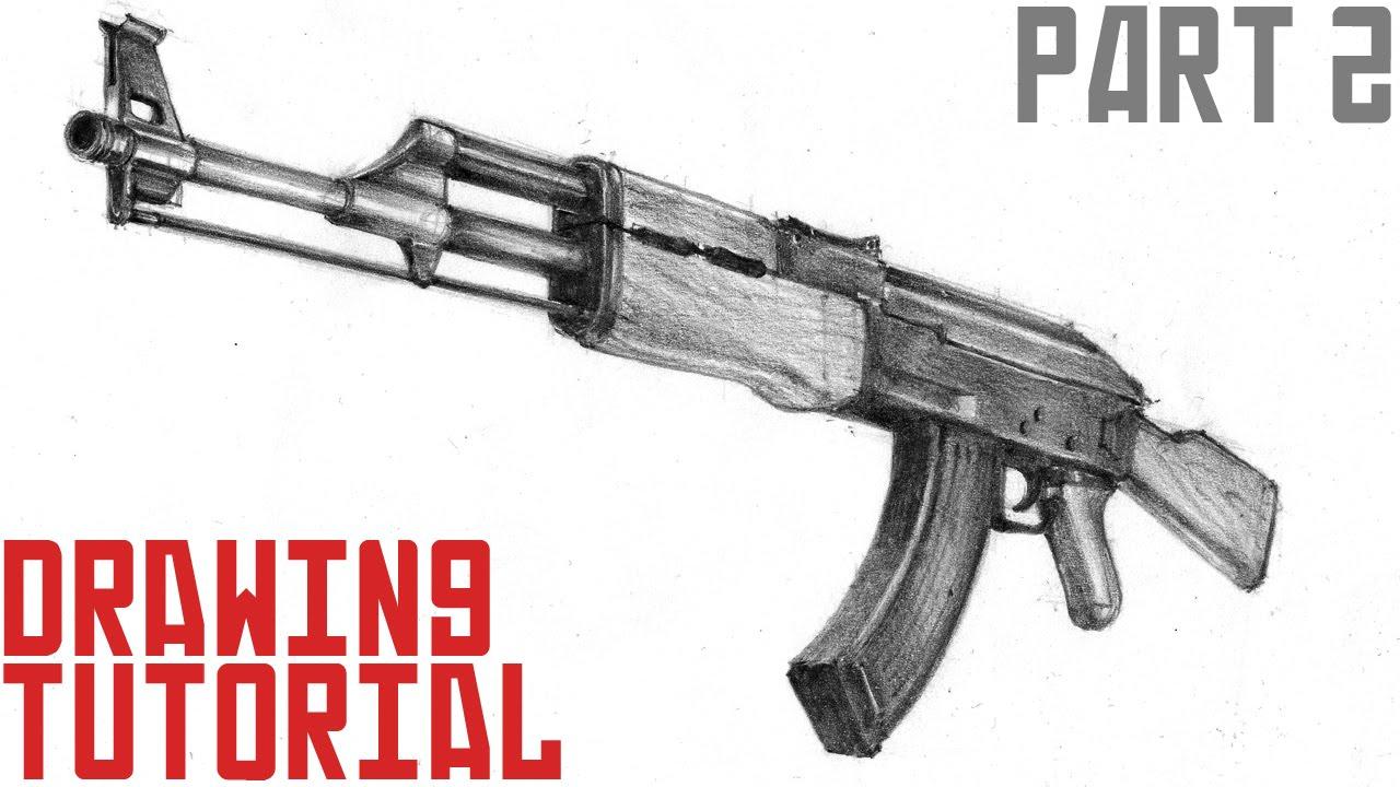 Drawn pistol ak47 In draw AK 3d How
