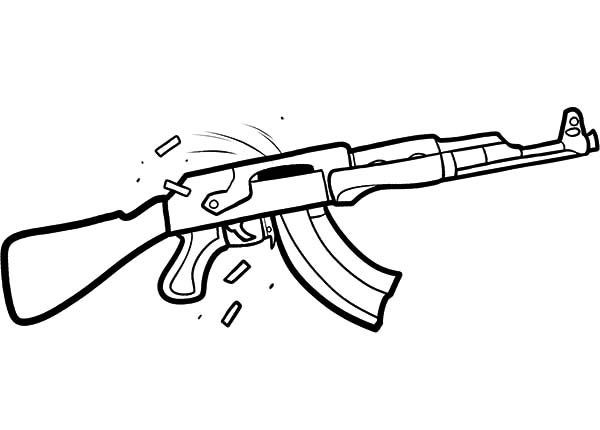 Drawn pistol ak47  Guns Printable AK47 Kalashnikov