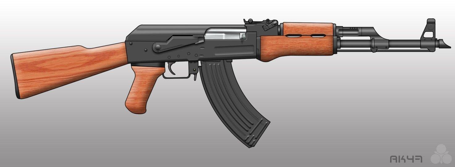 Drawn pistol ak47 To 47  AK YouTube